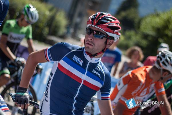Lecuisinier a eu l'occasion de goûté au peloton pro lors du Tour de l'Ain