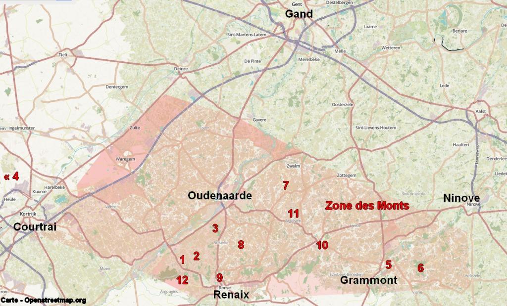 La zone des monts des Flandres
