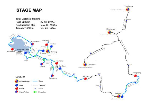 Le parcours du Tour of Qinghai Lake 2014