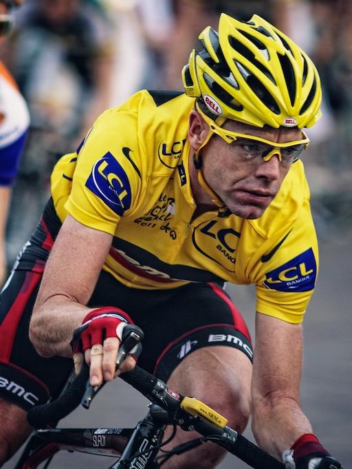 Cadel Evans en jaune