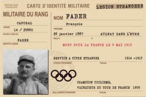 Carte militaire de François Faber