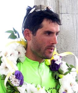 Ghader Mizbani, l'une des figures du cyclisme iranien.