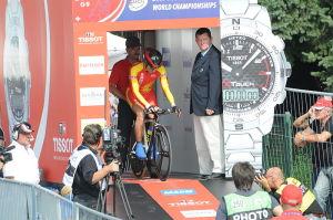 Eugen Wacker a eut le chance de participer aux championnats du monde. L'occasion pour le Kirgizhistan de se placer sur la scène du cyclisme international.