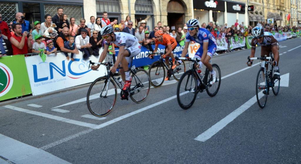 Périchon finit troisième du Tour du Doubs en 2014 devant Pinot, Vuillermoz et Rebellin.