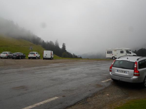 Au sommet de l'Aspin, la route devient dangereuse.