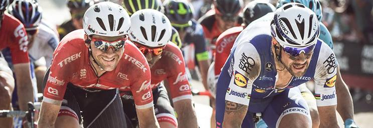 Edward Theuns et Tom Boonen, à l'arrivée de Paris-Roubaix 2017