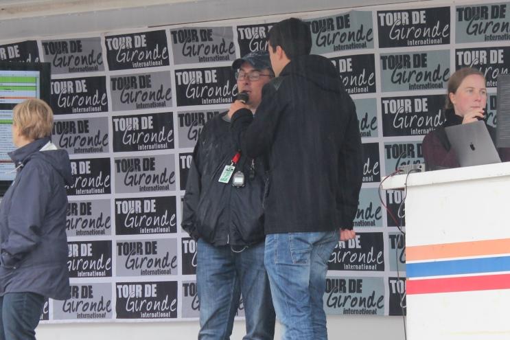 Didier Tiffon sur le podium du Tour de Gironde