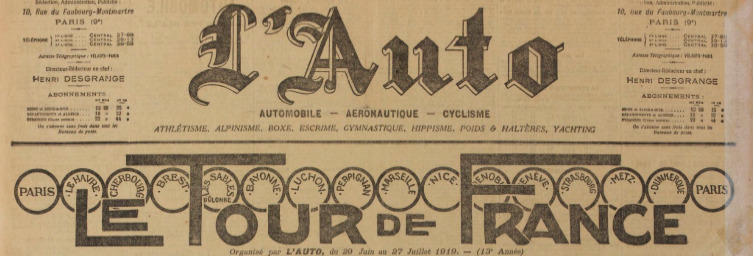 1919 : Renaissance du Tour