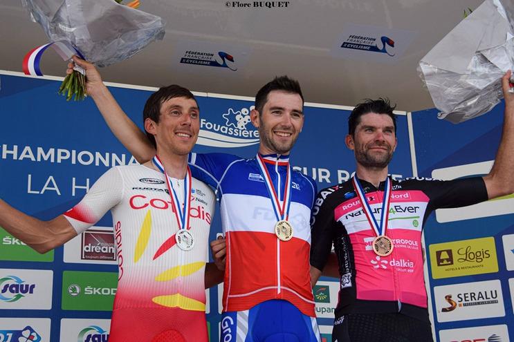 Stéphane Rossetto vient de terminer deuxième du chrono du championnat de France, à moins d'une semaine du Tour de France.